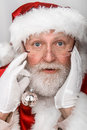 Santa clause stopped by for some portraits on his way back to the north pole he has alot of work to build all the toys for all the Stock Photography