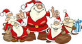 Santa clauses group Stock Image