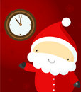 Santa and clocks Royalty Free Stock Photos