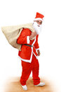 Santa is coming with sack full of christmas goodies Royalty Free Stock Photography