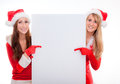 Santa copyspace Royalty Free Stock Photos