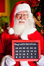 Santa counting the days for Christmas Stock Image