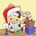 Santa cow Stockfotos