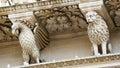 Santa Croce baroque church in Lecce Royalty Free Stock Photo