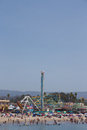 Santa cruz beach boardwalk Royaltyfria Bilder