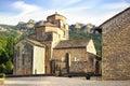 Santa cruz de la seros romanesque church in aragon spain Royalty Free Stock Images