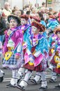 Santa cruz de tenerife carnival spain march clowns of the during the coso or final parade on march in canary islands Stock Image