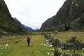 Santa cruz hiker parque nacional de huascaran peru Fotos de Stock