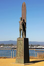 Santa Cruz Surfer Statue in California Stock Image