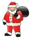 Santa a cute cartoon clause vector drawing Stock Photography