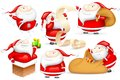 Santa in different Mood Royalty Free Stock Photos