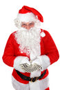 Santa with dollars Royalty Free Stock Photo