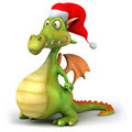 Santa dragon Stock Image