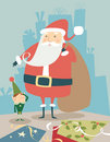 Santa & Elf Royalty Free Stock Photos