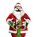 Santa And Elf Stock Photography