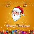 Santa and Elf with gift in Merry Christmas and Happy New Year Holiday celebration background Royalty Free Stock Photo