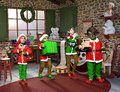 Santa Elves, Elf, Toy Workshop, Christmas, North Pole Royalty Free Stock Photo