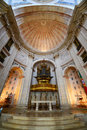 Santa engrácia church lisbon portugal interior of at alfama district in the old city of is now national Royalty Free Stock Images