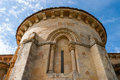 Santa eufemia de cozuelos church abse view of romanesque in the province of palencia spain Royalty Free Stock Images