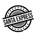 Santa Express rubber stamp Royalty Free Stock Photo