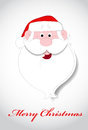 Santa face christmas vector illustration Stock Afbeelding