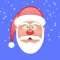 Santa face icon Royalty Free Stock Photo