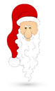 Santa face vetor illustration Foto de Stock Royalty Free