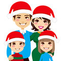 Santa Family Portrait Royalty Free Stock Image