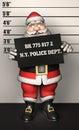 Santa father christmas rånar skottet Arkivfoto