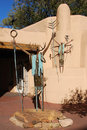 Santa Fe garden art Royalty Free Stock Images