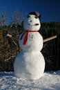 Santa Fe Snowman Stock Photos