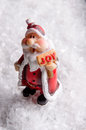 Santa figurine with JOY sign Royalty Free Stock Photo