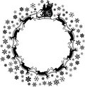 Santa_flakes.jpg Royalty Free Stock Images
