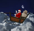 Santa in Flight Stock Photos