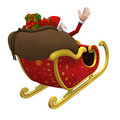 Santa flying away - with clipping path Royalty Free Stock Image