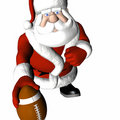 Santa Football 3 Royalty Free Stock Photo