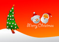 Santa and Frosty card Royalty Free Stock Photo