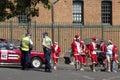 Santa fun run Stock Image