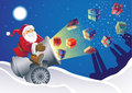 Santa Gift Launcher Stock Photo