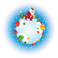 Santa and gifts Stock Images