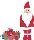 Santa with gifts Stock Photography