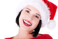 Santa girl Photo stock