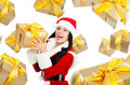 Santa girl creative disign Royalty Free Stock Image