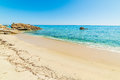 Santa Giusta beach in Costa Rei Royalty Free Stock Photo