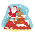 Santa greeting you a Merry Christmas. Stock Photography