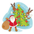 Santa greeting you a Merry Christmas. Royalty Free Stock Photo