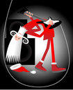 Santa guitarplayer Royalty Free Stock Photo