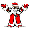 Santa hands up vector illustration Royalty Free Stock Photo