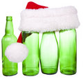 Santa hat and a bottle Stock Images