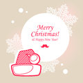 Santa hat christmas card greeting Stock Photos